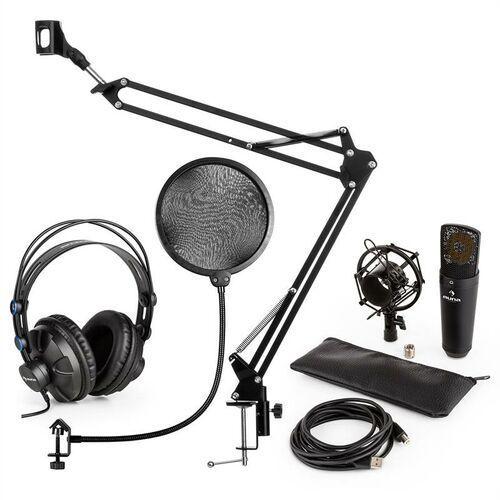 Mic-920b usb v4 zestaw mikrofonowy słuchawki studyjne mikrofon pojemnościowy ramię sterujące do mikrofonu pop filtr marki Auna