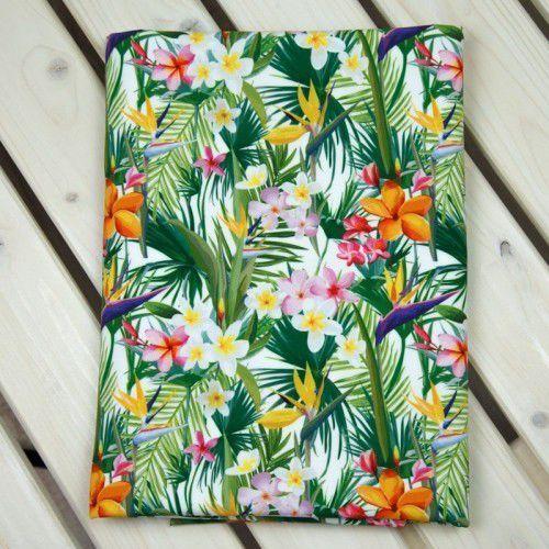 Softshell drukowany Kwiaty Tropikalne