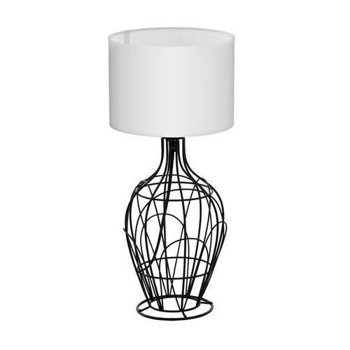 Eglo Stojąca lampa stołowa fagona 94607 abażurowa lampka nocna drut biała