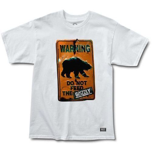 Grizzly Koszulka - do not feed the bears tee white (white) rozmiar: s