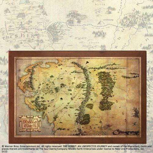 Mapa Śródziemia z filmu Hobbit Noble Collection (NN1312), NN1312