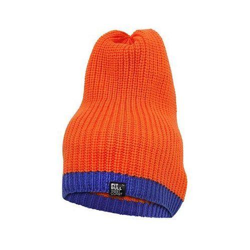 Czapka Pit Bull GRAPE Pomarańczowo niebieska - Pomarańczowy, kolor pomarańczowy