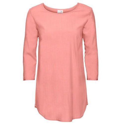 Bonprix Shirt bluzkowy, rękawy 3/4 łososiowo-jasnoróżowy
