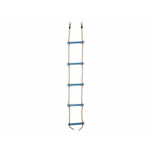 Just fun Drabinka sznurowa z 5 plastikowymi drążkami - błękitny