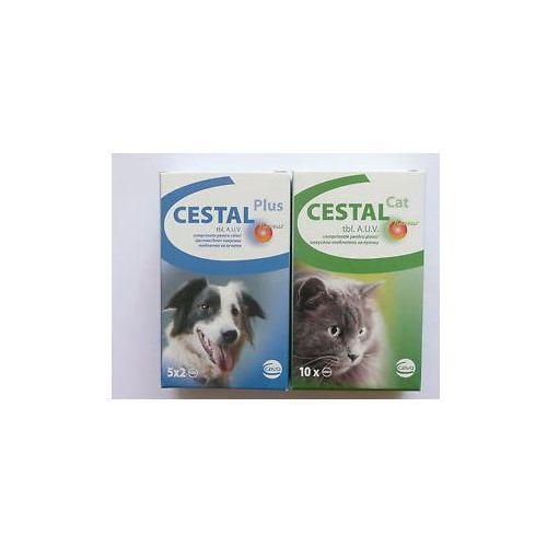 cestal cat flavour blister 10 tabletek - tabletki odrobaczające dla kotów. marki Ceva