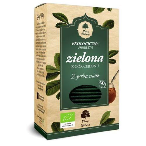 Herbata zielona z yerba mate bio (25 x 2 g) - dary natury marki Dary natury - test