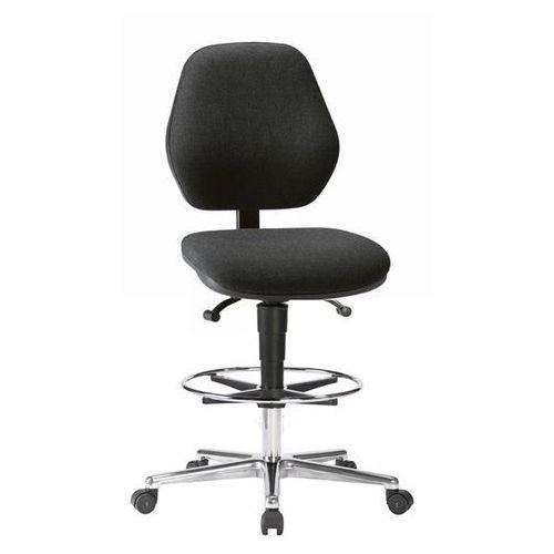 Wysokie krzesło, na kółkach, z regulacją wysokości sprężyną gazową 660 - 920 mm, marki Bimos