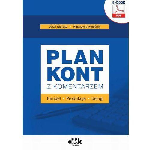 Plan kont z komentarzem - handel, produkcja, usługi (e-book)