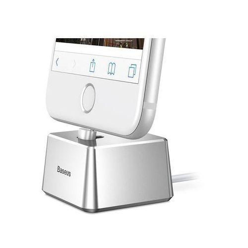 Baseus quadrate stacja dokująca kabel lightning iphone silver (6953156270077)