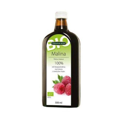 500ml sok 100% malina bezpośrednio wyciskany bio marki Premium rosa