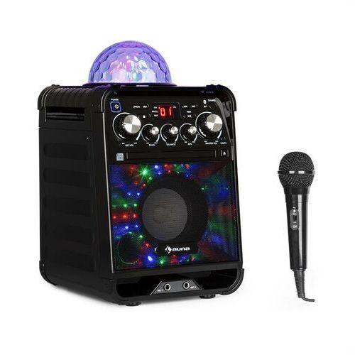 Auna Rockstar LED zestaw do karaoke odtwarzacz CD Bluetooth USB czarny (4260509688444)