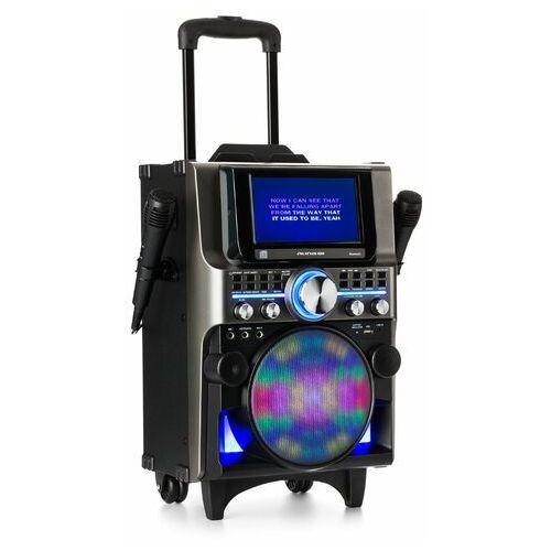 Auna Pro DisGo Box 360 Zestaw nagłaśniający 2 mikrofony HDMI BT LED USB kółka czarny