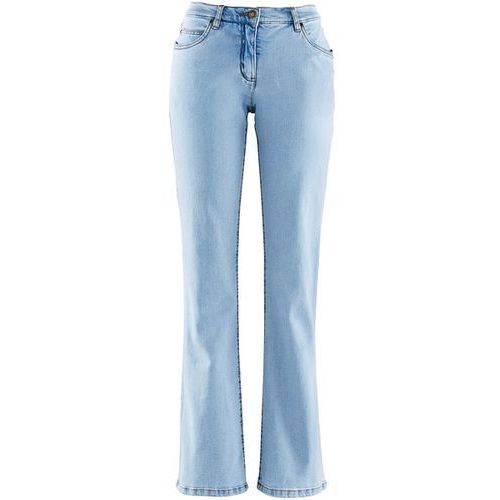 Dżinsy BOOTCUT bonprix jasnoniebieski, rozmiar od 36 do 54, niebieski