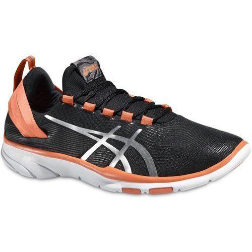 Damskie buty treningowe gel-fit sana 2 czarne 40,5 marki Asics