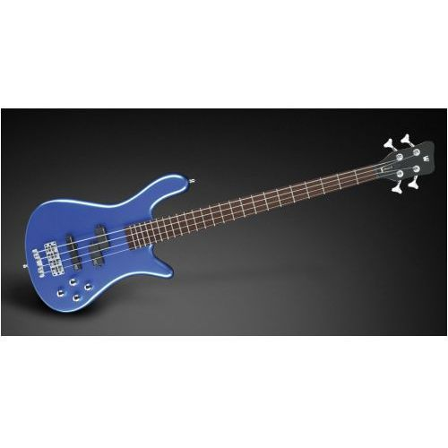RockBass Streamer LX 4-String, Blue Metallic High Polish, Active, Fretted gitara basowa