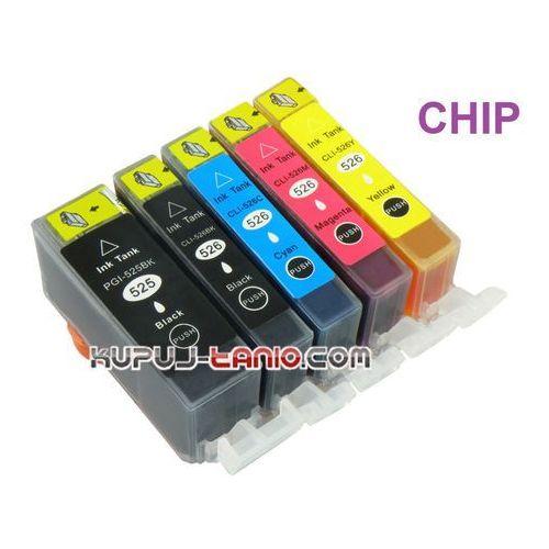 .PGI-525BK - CLI-526 tusze do Canon (5 szt z chipami, BT) MG5150, MG5250, MG5350, MG6150, iP4850 - produkt z kategorii- tusze