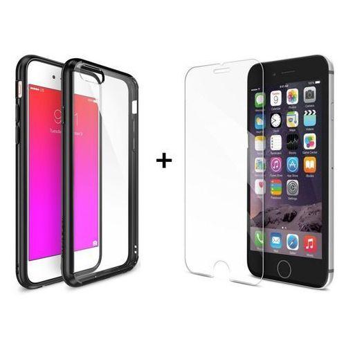 Zestaw | Rearth Ringke Fusion Black + Szkło ochronne | Etui dla Apple iPhone 6 / 6S, kolor czarny