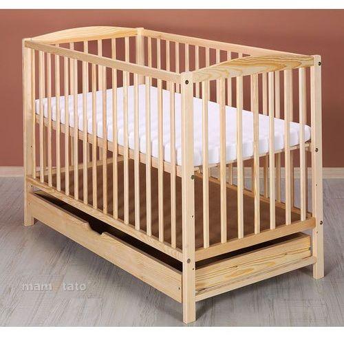 łóżeczko dla niemowląt maja 60x120 cm z szufladą - sosna marki Mamo-tato