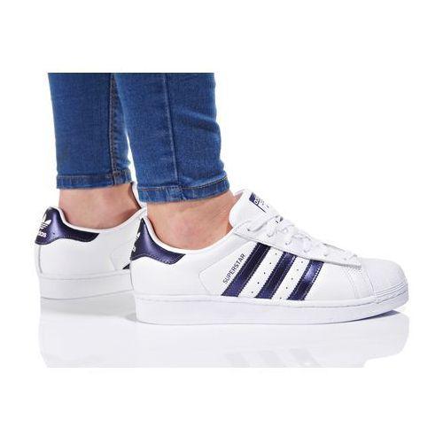 Adidas originals superstar tenisówki i trampki footwear white/purple night metallic