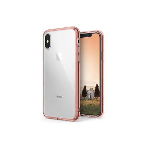 Apple iPhone X - etui na telefon Ringke Fusion - różowy, kolor różowy