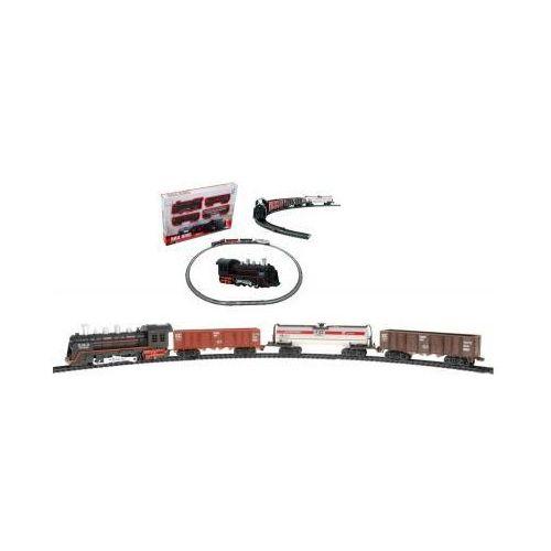 Kolejka elektryczna: lokomotywa parowa + 3 wagony + oświetlenie + dźwięki... marki Lcf