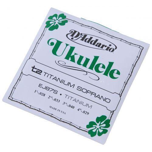 D′addario ej-87s ″titanium soprano″ struny do ukulele