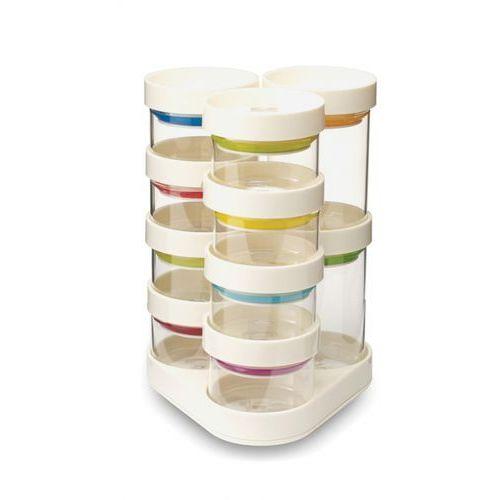 - spice store zestaw pojemników do przypraw biały ilość elementów: 11 marki Joseph joseph