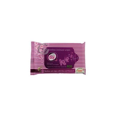 Chusteczki do higieny intymnej z włókna bambusowego (nawilżane) 10 szt. - gentle day marki Gentle day (podpaski, tampony, wkładki)