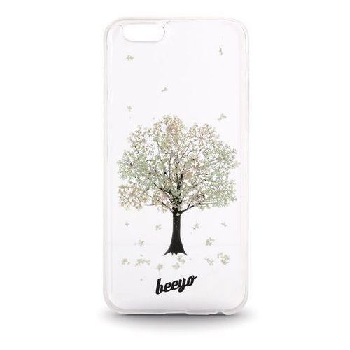 Telforceone Silikonowa nakładka etui beeyo blossom do iphone 6/6s transparentna + ecru (5900495419835)