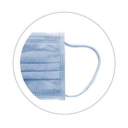 SURGIMASK maseczka chirurgiczna niebieska z gumką jałowa 50szt.
