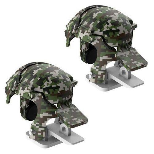 Baseus level 3 helmet pubg pad gamepad joystick do telefonu do gier camouflage szary (gmga03-a0g) - camo   szary (6953156210875)