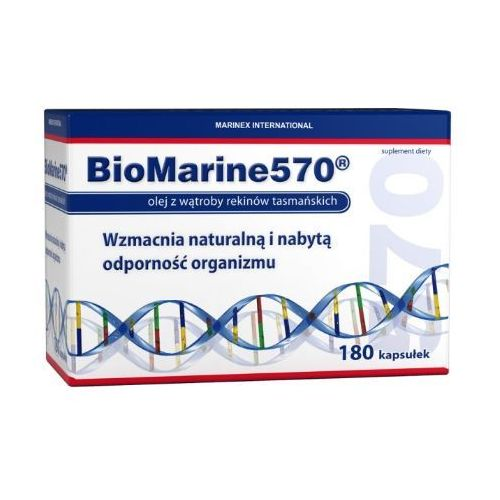 Biomarine 570 Olej z wątroby rekina 180 kaps. - produkt z kategorii- Pozostałe zdrowie