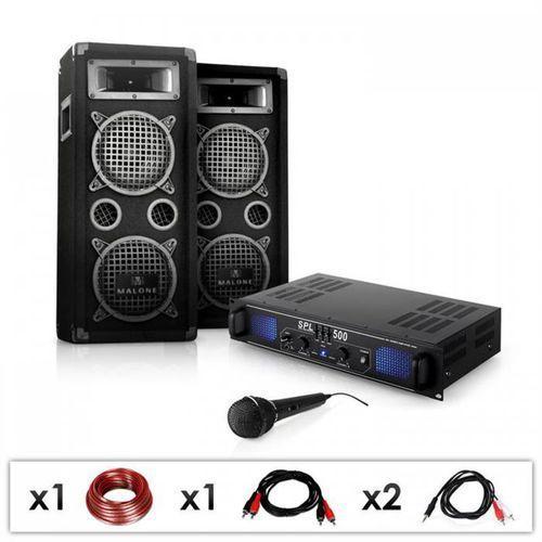 Elektronik-star Zestaw'dj-25' 1600w glosniki amplifier mikrofon