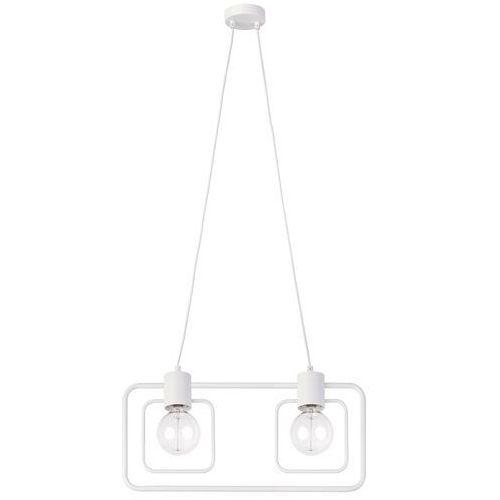 Sigma Lampa wisząca fredo kwadrat 31508 prostokątna oprawa metalowy zwis ramka biała