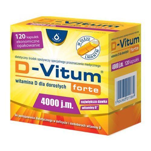 Kapsułki D-Vitum Forte Witamina D3 4000IU 120 kaps.