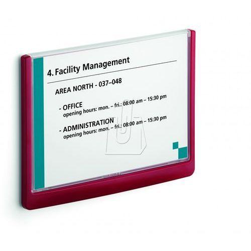 Durable Tabliczka przydrzwiowa click sign a5 210x148,5 mm czerwona 4866 03