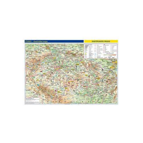 Česká republika - školní nástěnná vlastivědná mapa 1:370 tis./136x96 cm neuveden