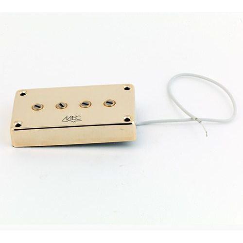 Mec star bass ii 4 string pu, passive, bridge, złoty przetwornik gitarowy