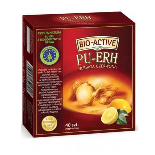 Big-active Bio-active herbata czerwona pu-erh - cytryna 40x1,8g