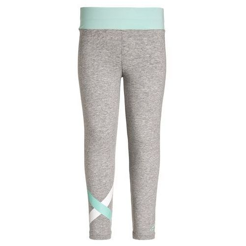 adidas Performance Legginsy medium grey heather/ice green z kategorii legginsy dla dzieci