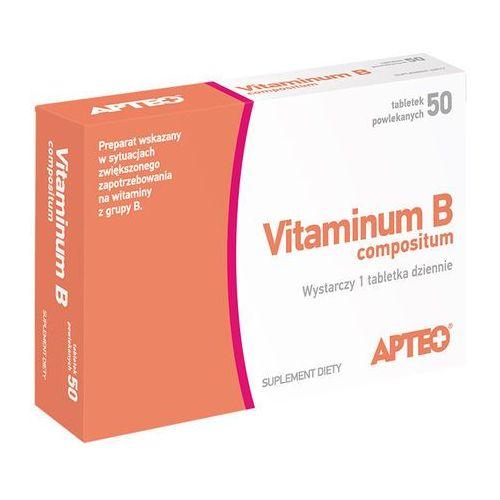 Vitaminum B compositum APTEO tabl.powl. - 50 tabl. (2 blist.po 25szt.) - oferta [0560da47533f522f]