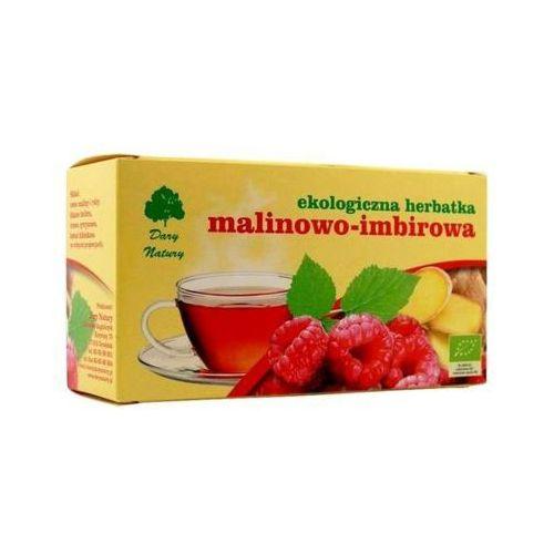 20x3g herbata malinowo - imbirowa saszetki bio marki Dary natury