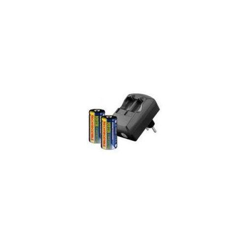 Zamiennik Ładowarka cr123a 230v + 2 szt. akumulatorów cr123a 500mah 3.0v