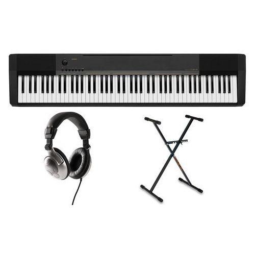 cdp-130 bk pianino cyfrowe ze statywem słuchawkami marki Casio
