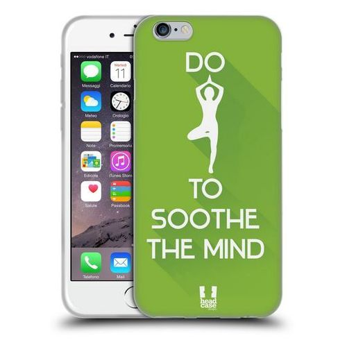 Etui silikonowe na telefon - Workout Inspirations Green Yoga