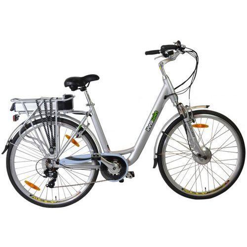 Rower elektryczny belair ii standard srebrny - 24 v - 26 cali marki Innowin