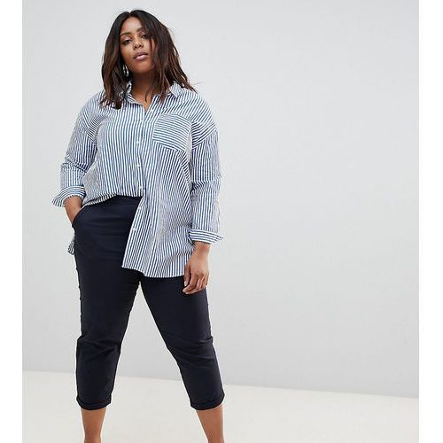 Asos curve Asos design curve chino trousers in navy - blue