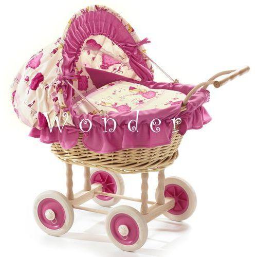 Wiklinowy wózek dla lalek Wonder Toy - oferta [65e9237357810290]
