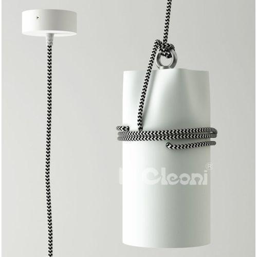 Lampa wisząca uran ze srebrnym przewodem żarówka led gratis!, 1296z1s1+ marki Cleoni