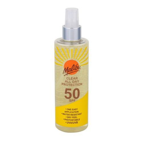 Malibu clear all day protection spf50 preparat do opalania ciała 250 ml unisex (5025135118913)